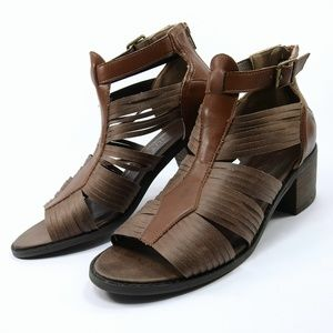 Winslow Strappy Stacked Heel Gladiator Sandal
